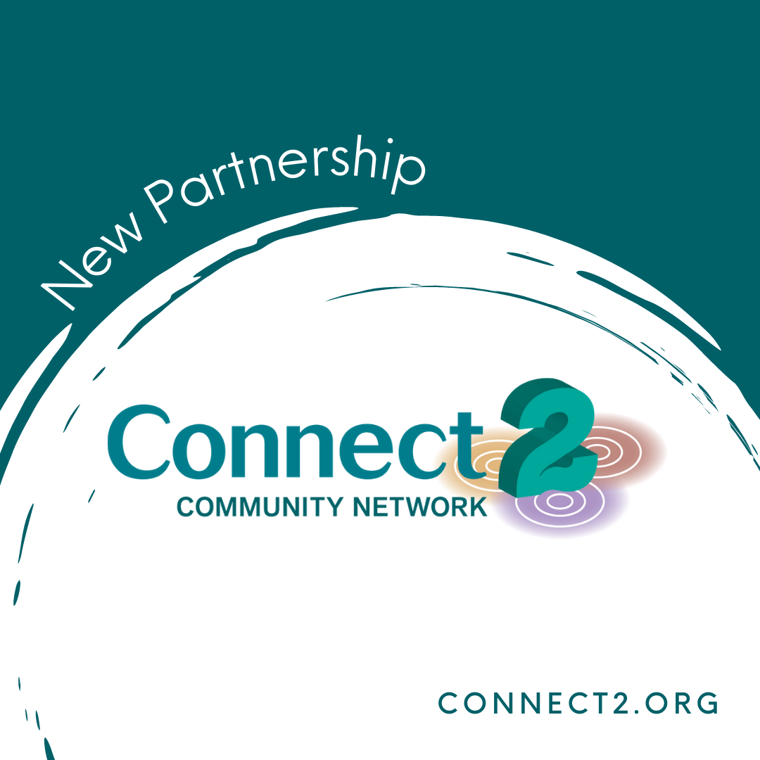 """Half white circle against green background, with the words """"New Partnership"""" and the Connect2 Catalyst Fund logo. Bottom corner: connect2.org."""